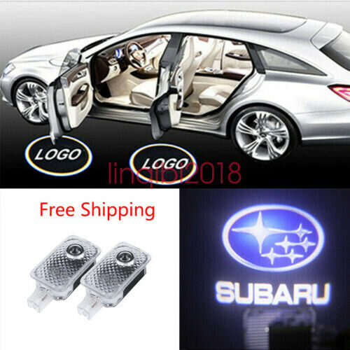 Subaru 2X LED PROJECTOR LIGHT LOGO EMBLEM ACCESSORY CAR DOOR BRIGHT LIGHT SERIES