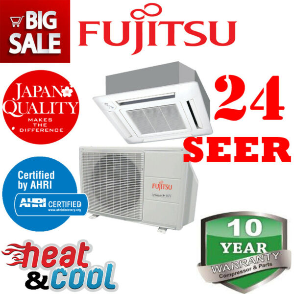 Fujitsu 9RLFCC 24.0 SEER Heat Pump amp; Air Conditioner Ductless Ceiling Cassette $1550.00