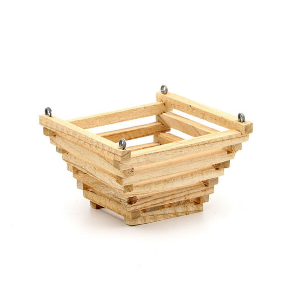 Wood orchid basket hanging wooden planter plant holder pyramid 6quot; $8.75