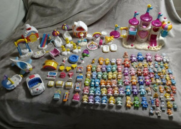 Vintage Care Bears Massive CARE A LOT Playset lot 98 Figures amp; 47 Accessories