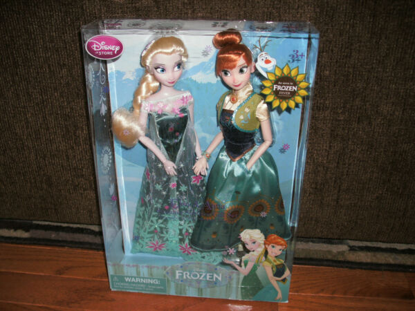 Brand New! Rare 2015 Disney Store Exclusive Frozen Fever Doll Set Elsa and Anna