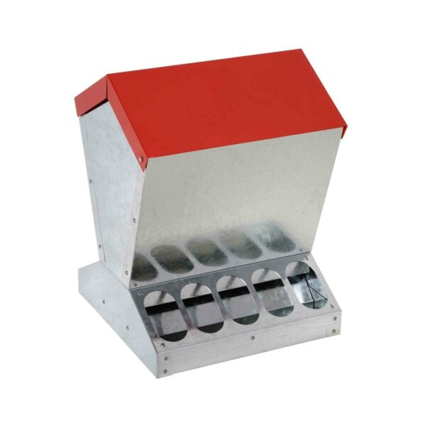 10kg Automatic Chook Chicken Feeder Poultry Auto Trough Galvanised Metal Feeders AU $149.99
