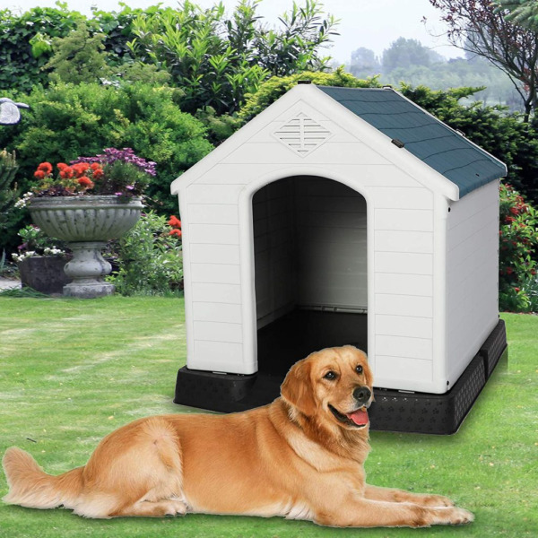 VILOBOS 3 Size Dog House Cat Pet Puppy Shelter Kennel All Weather Outdoor Indoor $63.99