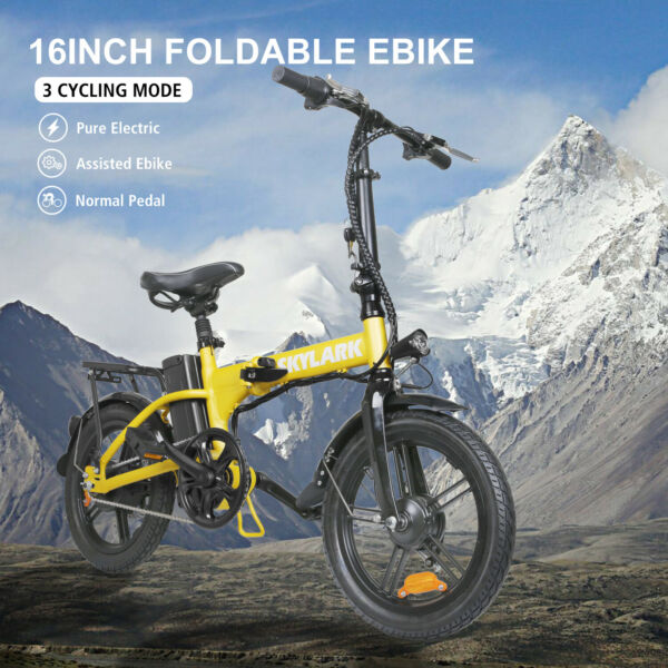 16quot; Folding Electric Bike for Adults 250W Ebike with 36V10AH Lithium Battery $599.99