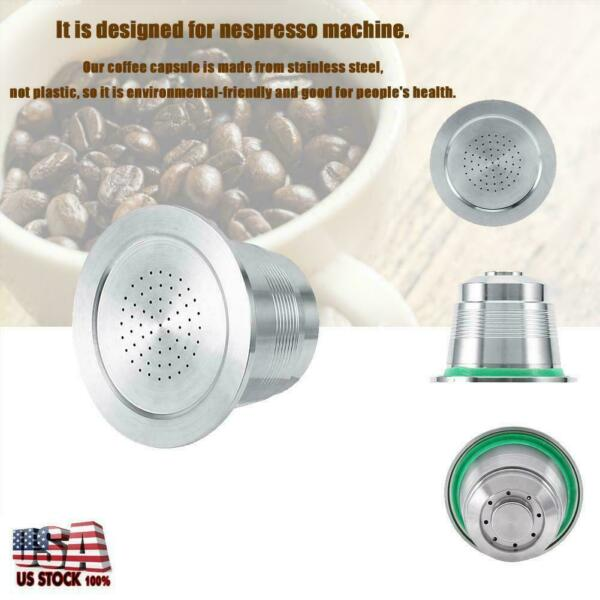 NEW Stainless Steel Coffee Capsule Cup Reusable Refillable Pod For Nespresso