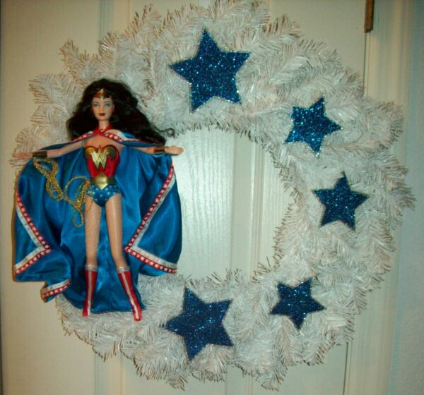 Wonder Woman  Wreath Wonder Woman Wreath Superhero Wreath christmas ooak