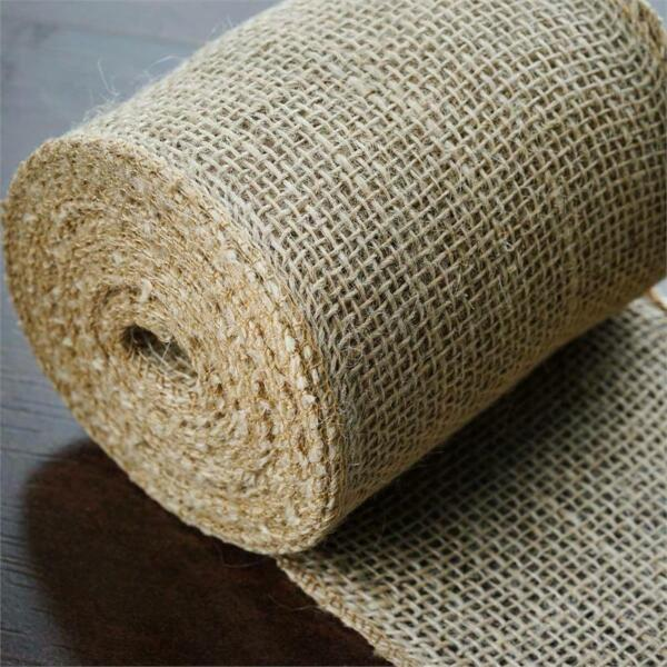 5quot; x 30 ft Natural Brown BURLAP FABRIC ROLL Wedding Party Favors Decorations