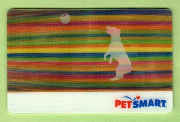 PETSMART Dog Playing with a Ball 2010 Lenticular Gift Card $0 $2.50