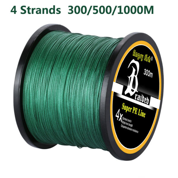 Braided PE Fishing Line 4 strands 300m 500m 1000m Super Strong Multifilament