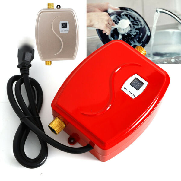 3KW Mini Instant Electric Water Heater Tankless Shower Kitchen US Standard New $53.45