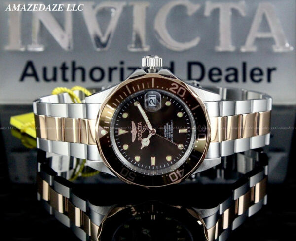 New Invicta Men PRO DIVER 24J AUTOMATIC NH35A Stainless Steel BROWN DIAL Watch $78.99