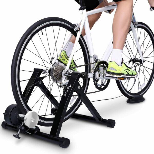 Sportneer Bike Trainer Stand Steel Bicycle Exercise Magnetic Stand Black $149.99