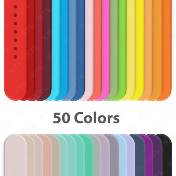 Silicone Band Strap for Apple Watch Sports Series 6 5 4 3 2 1 SE 38 40 42 44mm