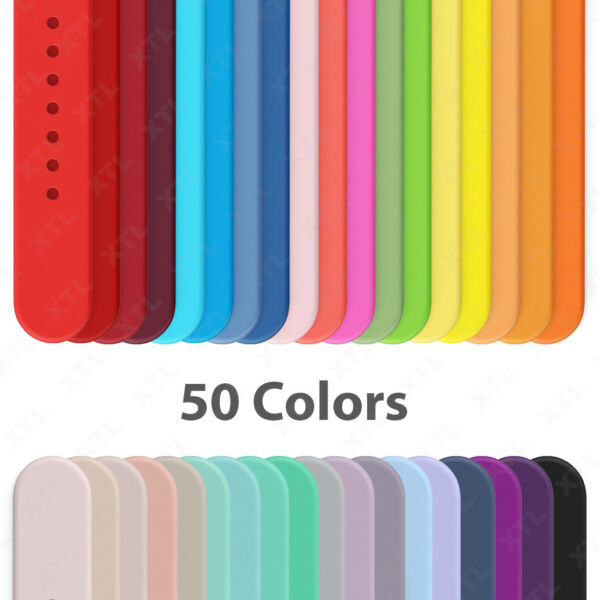 Silicone Band Strap for Apple Watch Sports Series 6 5 4 3 2 1 SE 38 40 42 44mm $3.75