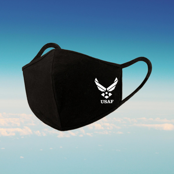 USAF Air Force Reusable Mask Printed In USA USAF LOGO Free Shipping