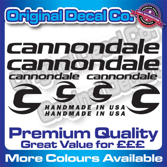 Premium Quality Cannondale Bike Stickers Decals mountain bike frame FREE GIFT GBP 9.99