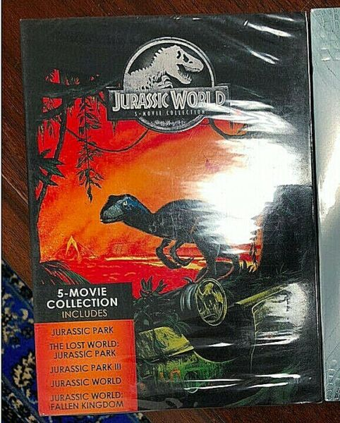 Jurassic World: 5 Movie Collection DVD 2018 5 Disc Sealed Freeamp;Fast Ship $17.29