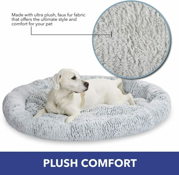 Calming Bed Dog Fluffy Soft Warm Calming Bed Luxury Comfy Bed Machine Washable $32.99