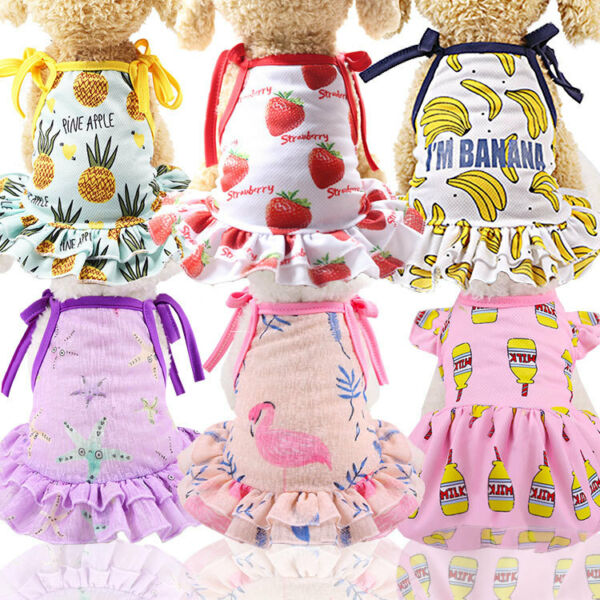 Pet Puppy Small Dog Lace Princess Tutu Mesh Dress Skirt Clothes Apparel Costume $8.69