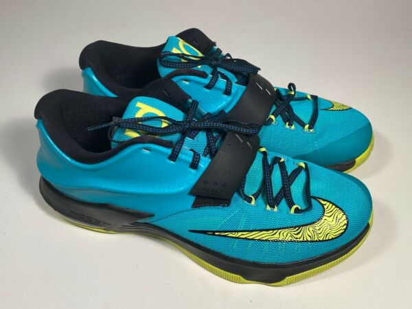 Nike KD VII Hyper Jade Uprising 653996 370 Athletic Sneakers Men Size 12.5