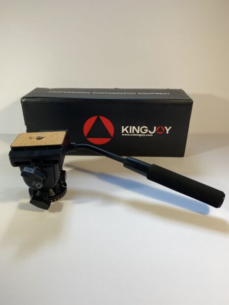 Kingjoy VT 1510 Fluid Tripod Head with Quick Release Bird Watching Head