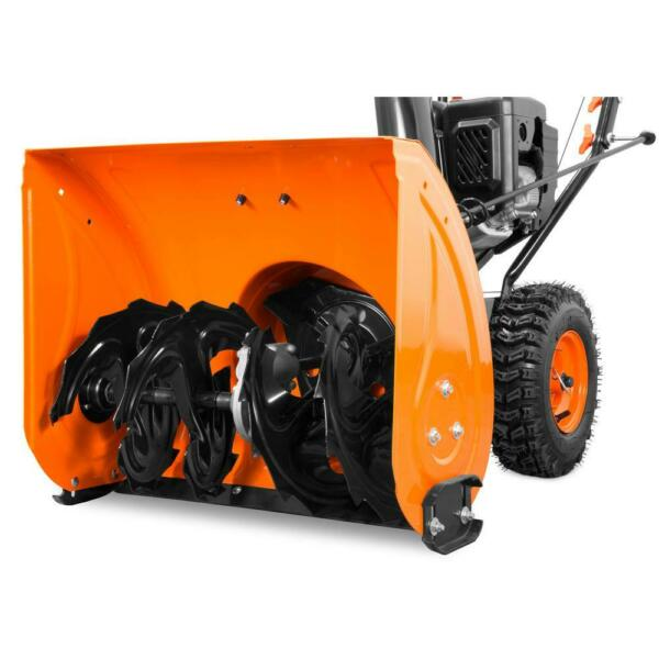 24quot; 212cc Snow Blower 2 Stage Self Propelled Electric Start Gas Snowblower