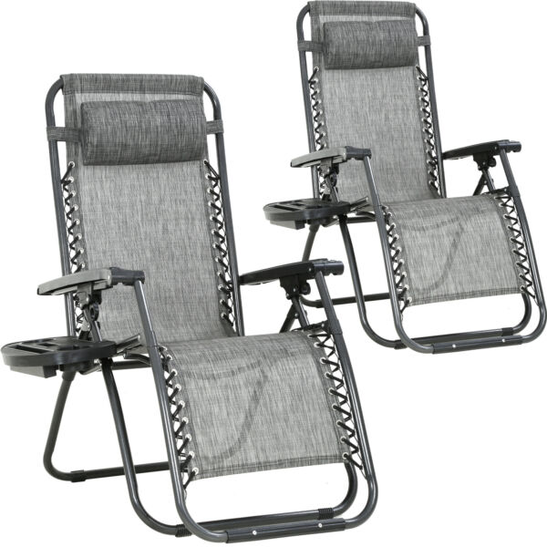 Zero Gravity Chair Patio Chairs Set of 2 Lawn Chair Outdoor Chair Deck Chairs $89.99