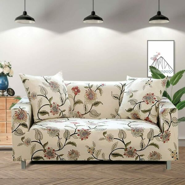 Lamberia Printed Sofa Cover Stretch Couch Cover Sofa Slipcovers for Couches and