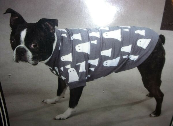 Zach amp; Zoey GHOST TEE for small dog...size XS. HALLOWEEN Cotton Blend One left $5.00