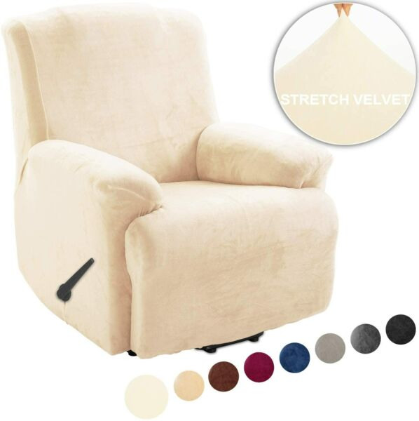 Stretch Recliner Covers Sofa Cover Loveseat Cover velvet and fleece no lint $25.00