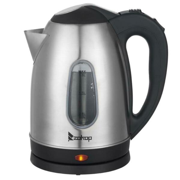 1500W Electric Tea Kettle Coffee Pot Hot Water Fast Boil Stainless Steel 1.8L $16.95