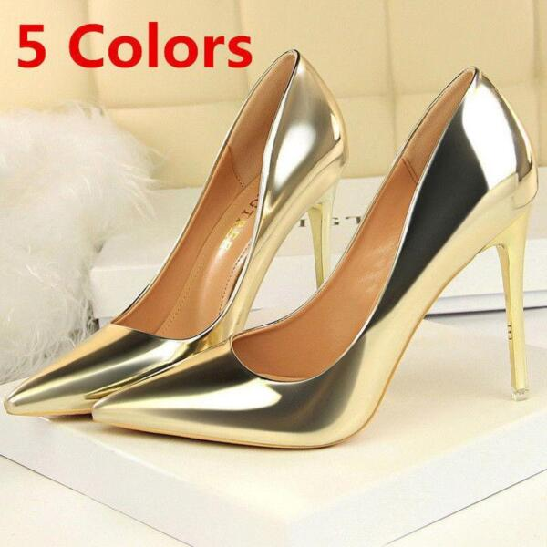 Hot Pump Patent Leather Pointed Toe Stilettos High Heels Party Ladies Shoes Q323 $54.70