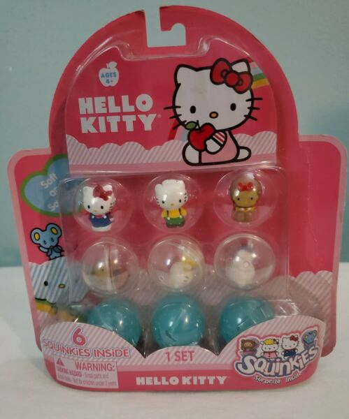 Sanrio Hello Kitty 6 Squinkies by Blip Toys 2011