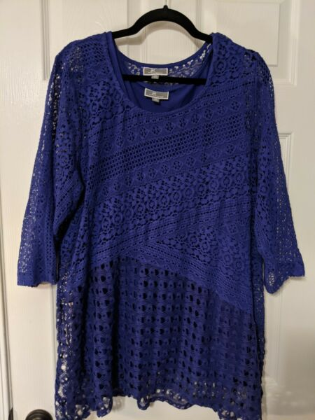 Crochet tunic with under tank 3x $21.99