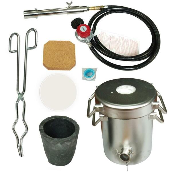 5KG Gas Melting Furnace Kit Propane Forge Metal Copper Gold Silver Casting Tool $269.95