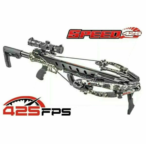 2020 Killer Instinct Speed 425 FPS Elite Crossbow 100 Yard Scope Make An Offer