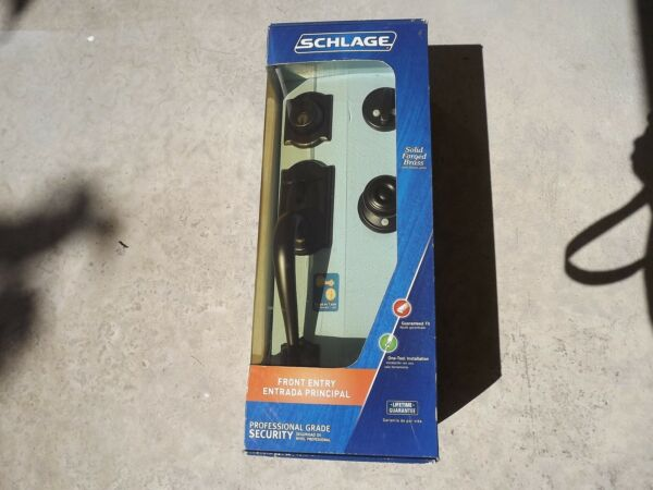 Schlage F360 V Cam 716 Geo Camelot with Georgian Knob in Aged Bronze New in Box