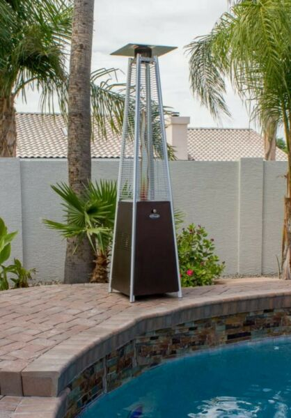🔥 Hiland HLDSO1 Pyramid Patio Propane Heater w Wheels 40000 BTU 87 inches 🔥