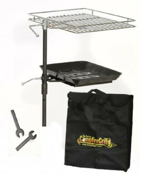 The Perfect Camp fire Grill Rebel Grill 10 Inches by 12 Inches