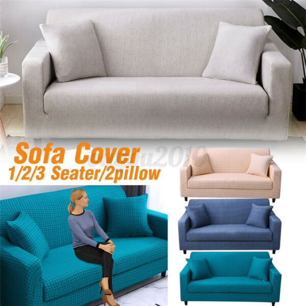 1 2 3 Seater Stretch Chair Sofa Cover Slipcover Couch Loose Furniture $18.94