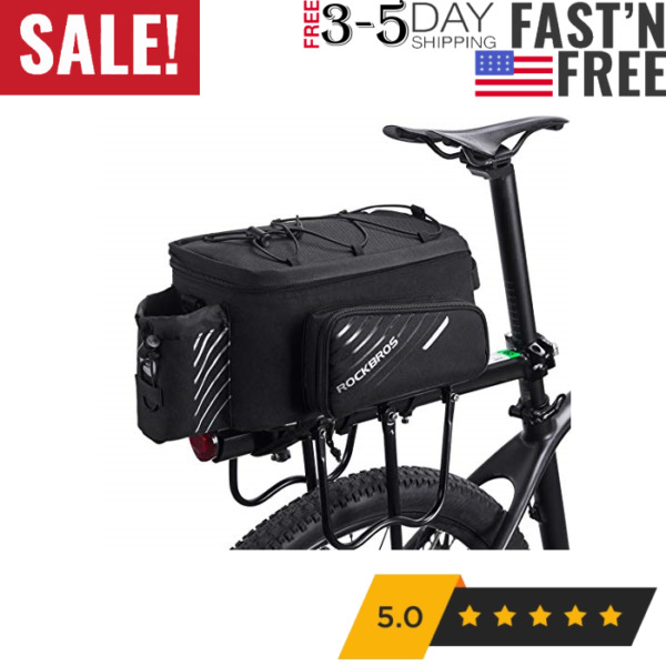 Bike Trunk Bag Bicycle Rack Rear Carrier Bag Commuter Bike Luggage B... $71.03