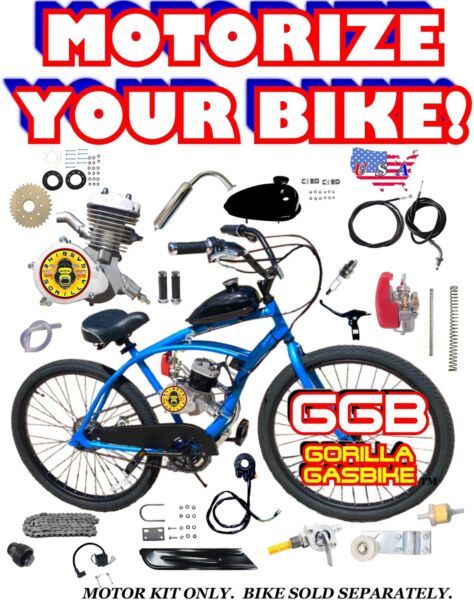 COMPLETE 2 STROKE 66cc 80cc MOTORIZED BIKE KIT ONLY FOR YOUR OWN BIKE DIY $179.99