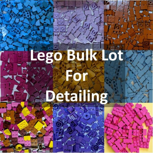 NEW 💥100 PCS LEGO BULK LOT COLOR SORTED SMALL PIECES FOR DETAILING