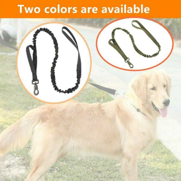 Retractable Nylon Rope Dog Leash Tactical For Large Dog Heavy Duty Coupler $7.50
