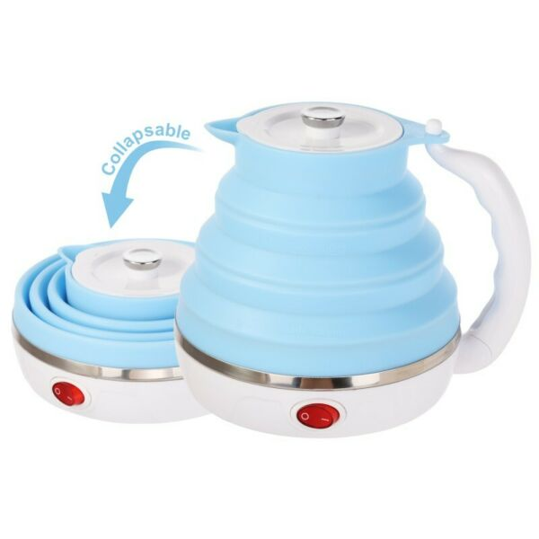 Electric Kettle Silicone Foldable Portable Adjusting Travel Camping Water Boiler $28.99