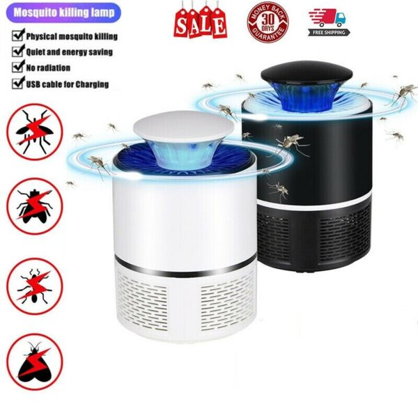 Electric UV Mosquito Killer Lamp Outdoor Indoor Fly Bug Insect Zapper Trap USB $8.95