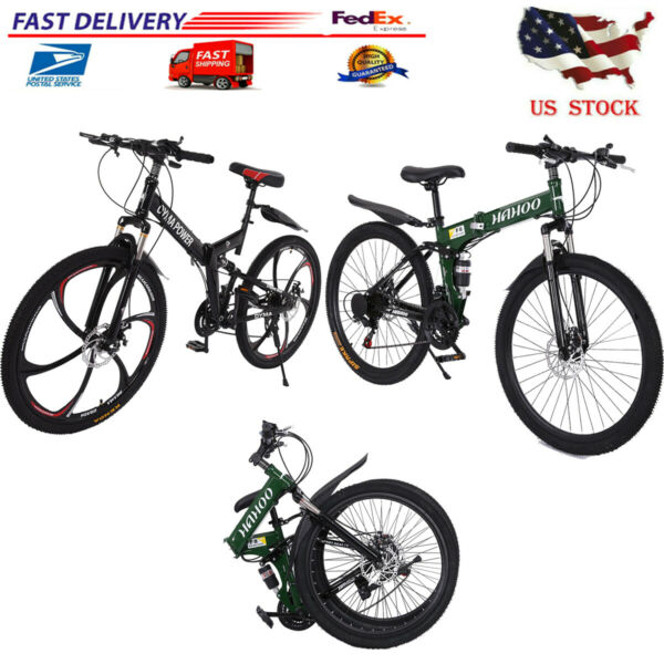 26quot; 21 Speed Folding Mountain Bike for Adult $150.39