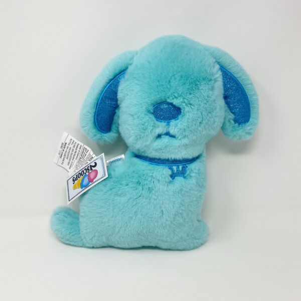 Two Scoops Super Soft Blue Plush Dog Shaped Pillow $10.00