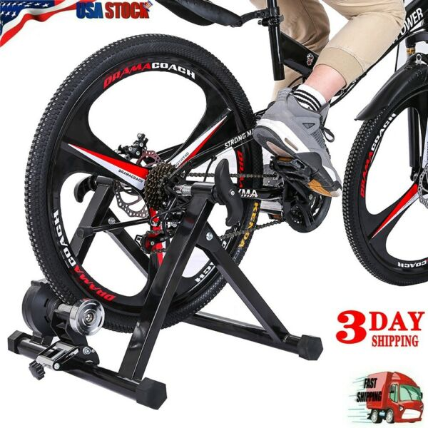 Bike Trainer Stand Magnetic Bicycle Stationary Stand For Indoor Exercise US $84.11