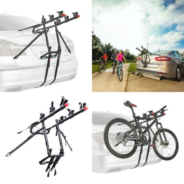 3 Bike Trunk Rack Rear Mount Three Bikes Carrier Car SUV Bicycle Sedans Sturdy $64.99